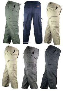 Mens-Mian-Trousers-Elasticated-Cargo-Combat-Multi-Pocket-Long-Pants-Bottoms