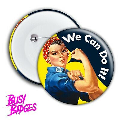 ROSIE THE RIVETER Pin-back Button//Magnet