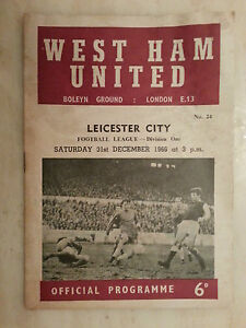 196667 Football League WEST HAM UNITED v LEICESTER CITY  31st December - Ilford, United Kingdom - Returns accepted Most purchases from business sellers are protected by the Consumer Contract Regulations 2013 which give you the right to cancel the purchase within 14 days after the day you receive the item. Find out more about y - Ilford, United Kingdom
