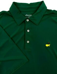 The-Masters-Tech-Augusta-National-Mens-XL-Golf-Performance-Polo-Shirt-Green-S-S