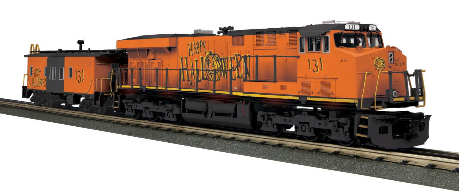 MTH  30-20522-1 Halloween ES44AC Imperial Diesel & furgón de cola Set con Projoo