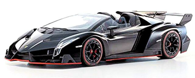 Kyosho 1/18 Scale - C09502bkr Lamborghini Veneno Roadster Black Red ...