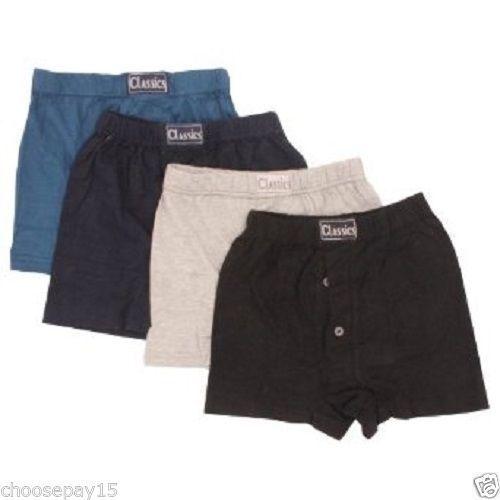 Details about  /12 Pair Boys Children Underwear Boxer Shorts Cotton Button Fly Assorted Colors