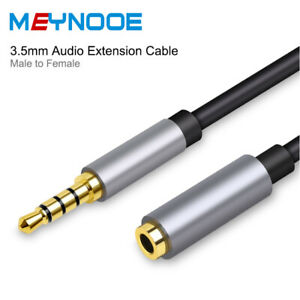 Stereo-3-5mm-Audio-Jack-Extension-Cable-Male-to-Female-Headphone-Aux-Cord-4-Pole