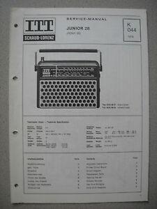 ITT/Schaub Lorenz Junior 28 (Pony 28) Service Manual, K044