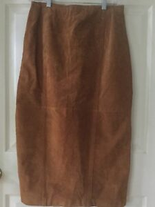 Brandon-Thomas-Brown-Suede-Solid-Long-Pencil-Skirt-Maxi-Suede-11-12