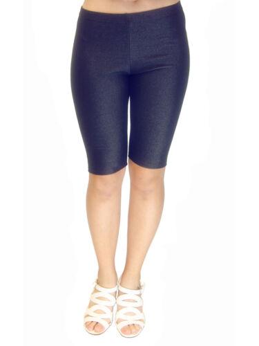 Vivian/'s Fashions Legging Shorts Misses and Plus Sizes Knit Denim Biker