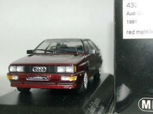 Wow extrêmement rare Audi Quattro B2 1981 nacré rouge foncé 1:43 Minichamps-rs4 / rs6 4012138070820