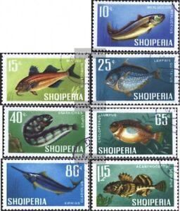 Albanien-1131-1137-kompl-Ausg-gestempelt-1967-Fische