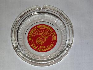 VINTAGE  1946 MARINE'S MEMORIAL CLUB SAN FRANCISCO SEMPER FIDELIS ASHTRAY