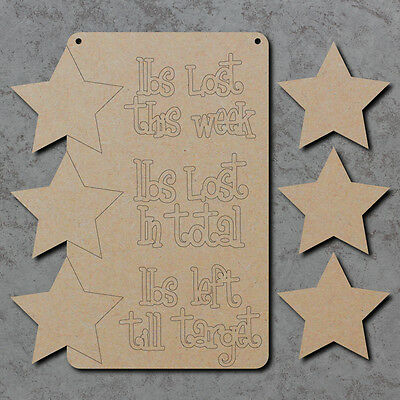 Wooden Blank Laser Cut mdf Craft Shapes Weight Loss Chart Sign