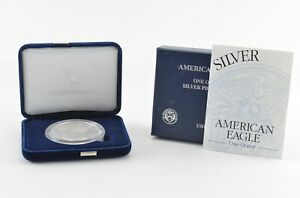 2003-American-Silver-Eagle-1-Oz-Silver-Proof-With-Velvet-Box-amp-COA
