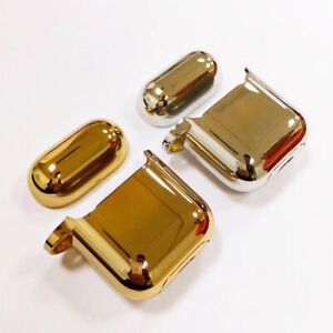 Apple Airpods Case Cover Gold, Silver, Rose Plated Metallic Shockproof Holder
