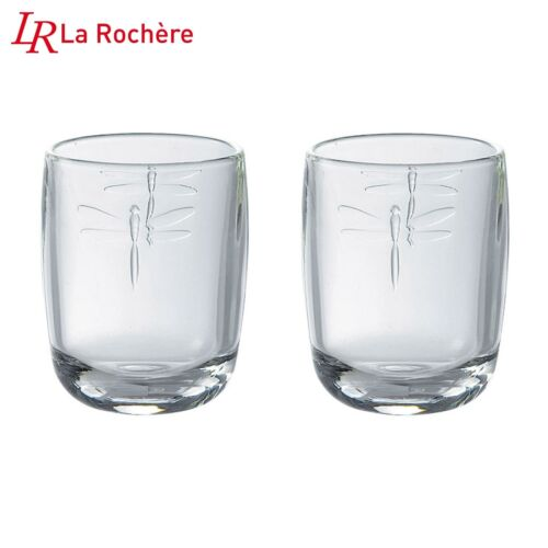 La Rochere Libellules Dragonfly Set of 2 Glasses Tumblers 28cl Decorated French