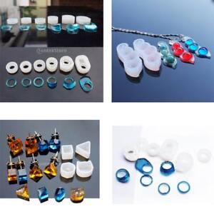 8 Pièces Moule Silicone Forme de Cabochon DIY Artisanat Perles Strass