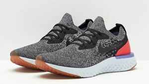 c2d25c2fe4c NIKE EPIC REACT FLYKNIT MEN S RUNNING SHOES  SIZE 12  BLACK RED ...