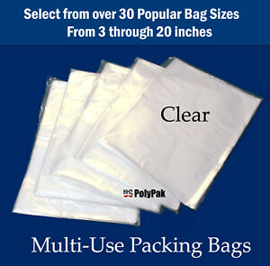 Clear-Plastic-Poly-100-200-300-500-1000-Flat-1-Mil-Baggies-Open-Top-Bags