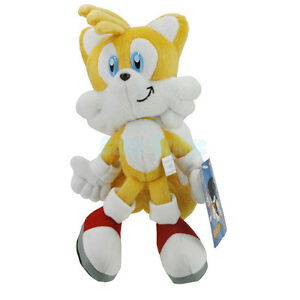 sonic the hedge miles tail prower fox 9 8 034 new cute soft plush doll