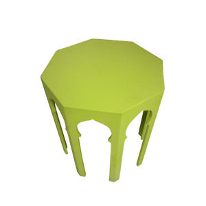 Moroccan Octagonal Solid Lime Colored Coffee Accent Table