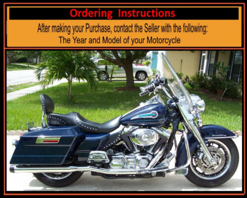 Harley Saddle Shield Touring Chrome Studded Mid Frame HEAT Deflectors USA Made