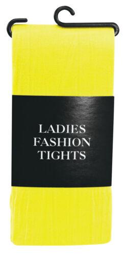 Adult Ladies Fashion Tights Yellow Elf Xmas Halloween Party Fancy Dress
