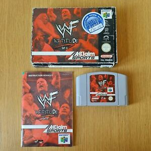 WWF Attitude NINTENDO 64 N64 PAL Juego en Caja Completa Con Manual Gratis P&P