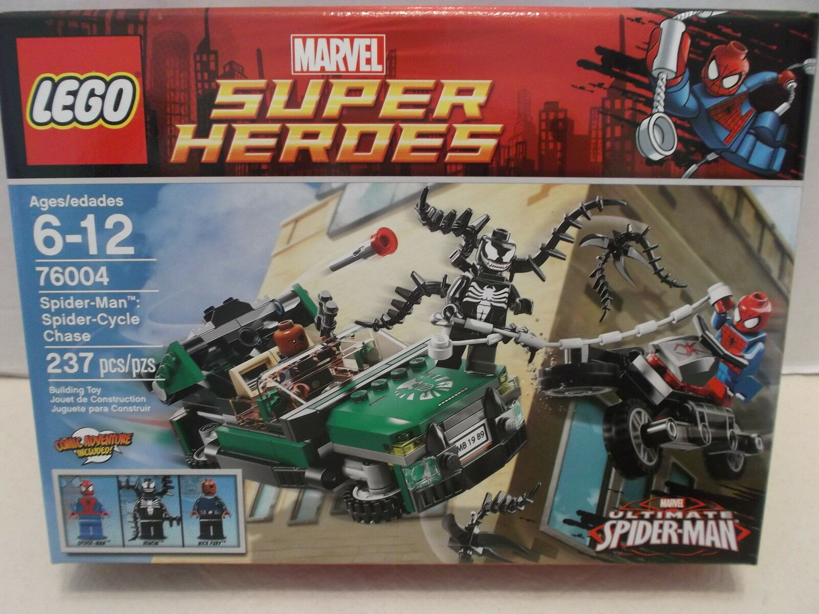 Lego  76004 Spider-Man Spider-Cycle Chase Marvel Super Heroes NIB 2013