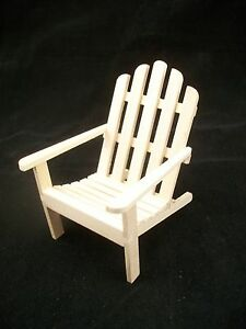 Chair Adirondack Infinished Dollhouse Miniature T4619