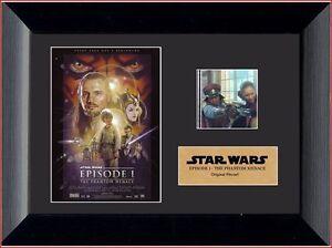 Film Cell Genuine 35mm Framed & Matted Star Wars Episode I Phantom Menace 2407