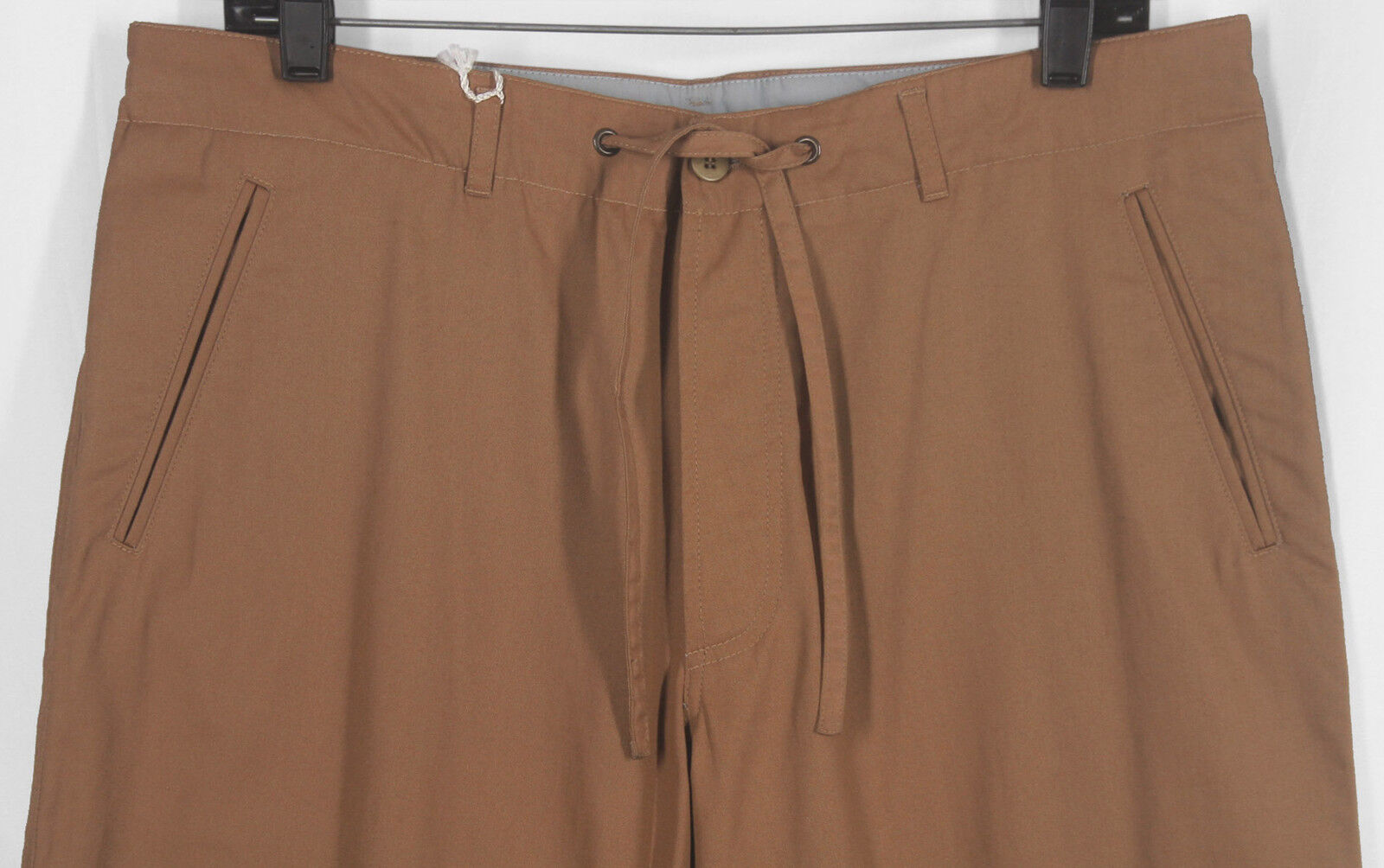 NWT ISAIA HAND_MADE_100% COTTON PALE-COPPER CASUAL LEISURE PANTS W34½ 12775