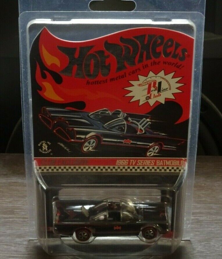 Hot Wheels RLC 1966 TV Series Batmobile rossoline Club Exclusive Real Riders Movie