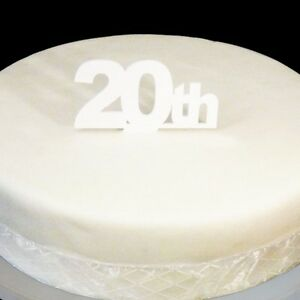 Tremendous 20Th Birthday Cake Topper White Ebay Personalised Birthday Cards Veneteletsinfo