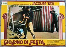 Affiche JOUR DE FETE Vélo JACQUES TATI Cirque FACTEUR Fête Foraine Italienne B