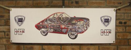 Lancia Fulvia Automobile da Rally Grande PVC Lavoro Shop Banner Garage Show