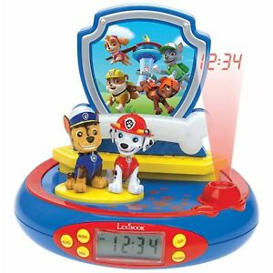 PAW PATROL RADIO ALARM CLOCK PROJECTOR LEXIBOOK GIRLS BOYS BEDROOM ...