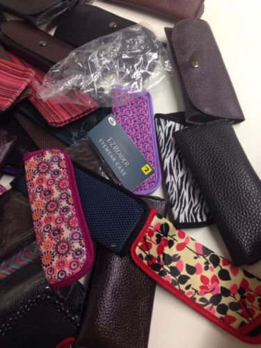 Wholesale Lot Sunglass Cases NEW Assorted Styles 50 Eyeglass