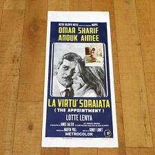 LA VIRTU' SDRAIATA locandina poster The Appointment Lumet Omar Sharif Aimée P87