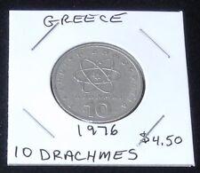 Very Nice 1976 Greece 10 Drachmes Coin