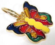 Key ring Vintage Schlüsselanhänger USA 1970er Butterfly kunterbunt Fensterdeko