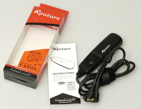 LibéRal (prl) Aputure Dhc-2 Per Canon Remote Cord Switch Comando Scatto Distanza Cavo