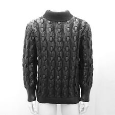NEW Mens Dior Homme Black Waxed Knitwear Jumper GENUINE RRP: £870  - Size: L
