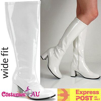 Womens White Gogo 1960s 60s go go Boots