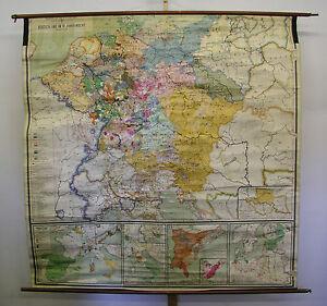 Schulwandkarte Wandkarte Alte Deutschland Karte 18 Jhd 198x199cm
