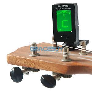 lcd clip on digital chromatic electronic guitar tuner bass banjo violin ukulele ebay. Black Bedroom Furniture Sets. Home Design Ideas