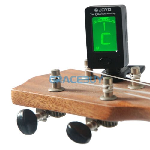 1 of 1 - LCD Clip-on Digital Chromatic Electronic Guitar Tuner Bass Banjo Violin Ukulele