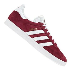Détails sur ADIDAS GAZELLE BORDEAUX BLANC Baskets Femme Burgundy Sneakers Women B41645