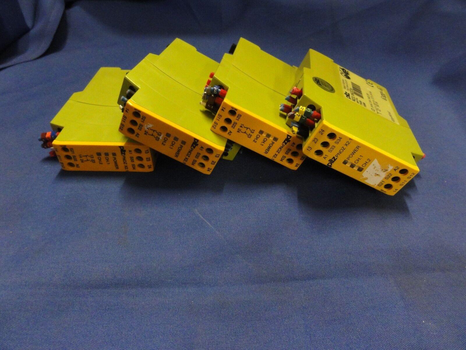 Set of 4 PILZ PNOZ X2.1 2S 774306 24VAC DC 2n o Safety Relay