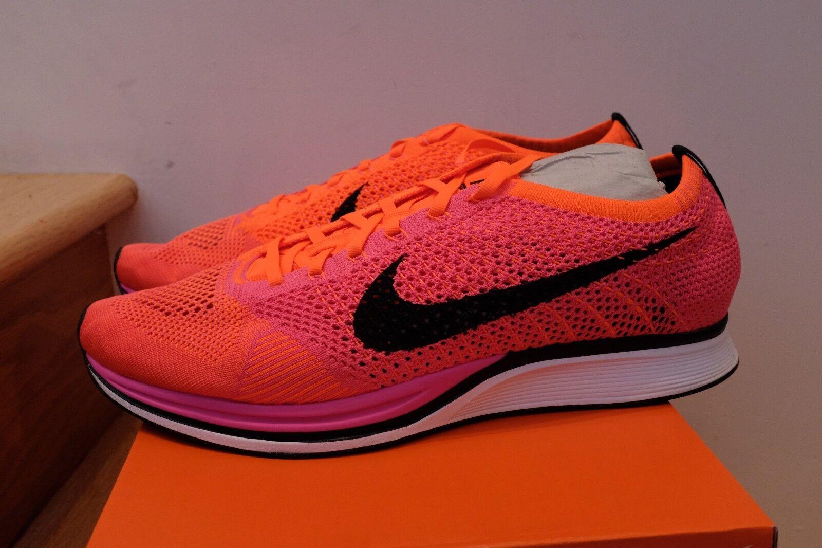 2014 Nike Flyknit Racer Pink Flash Crimson Crimson Crimson White Black size 13 c0ea1c