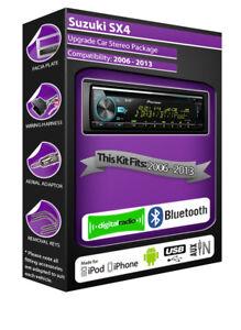 Suzuki-Sx4-Radio-DAB-Pioneer-de-Coche-CD-USB-Auxiliar-Player-Bluetooth-Kit