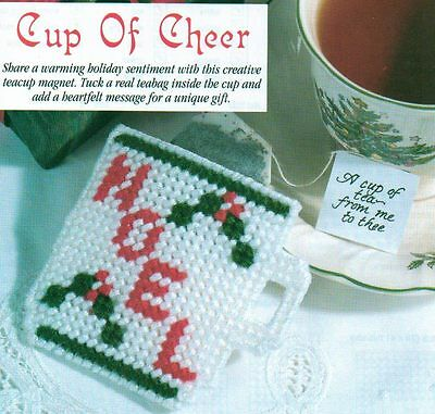 CUP OF CHEER CHRISTMAS PLASTIC CANVAS PATTERN INSTRUCTIONS